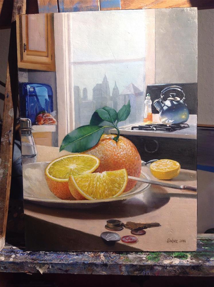 """""""Oranges – kitchen"""" original fine art by Paulo Jimenez"""