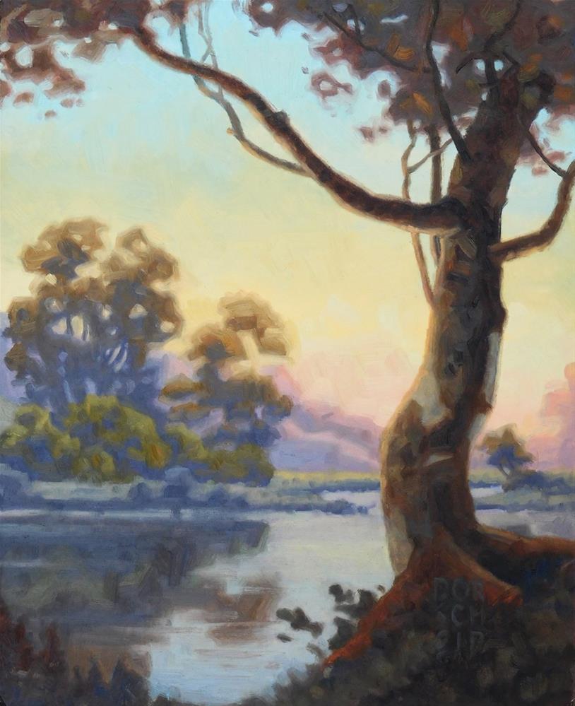 """Shoreline Evening"" original fine art by Les Dorscheid"