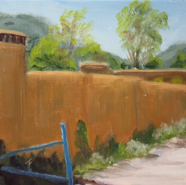 """Adobe Lane"" original fine art by Jane Frederick"
