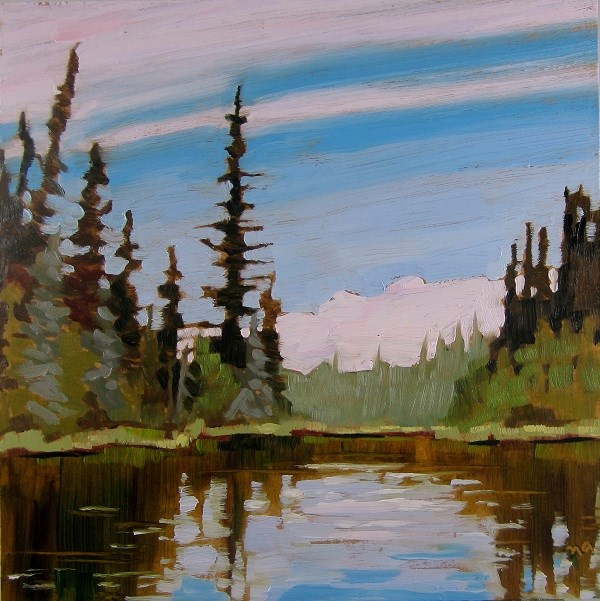 """Forest On Sulphide Lake"" original fine art by Nicki Ault"