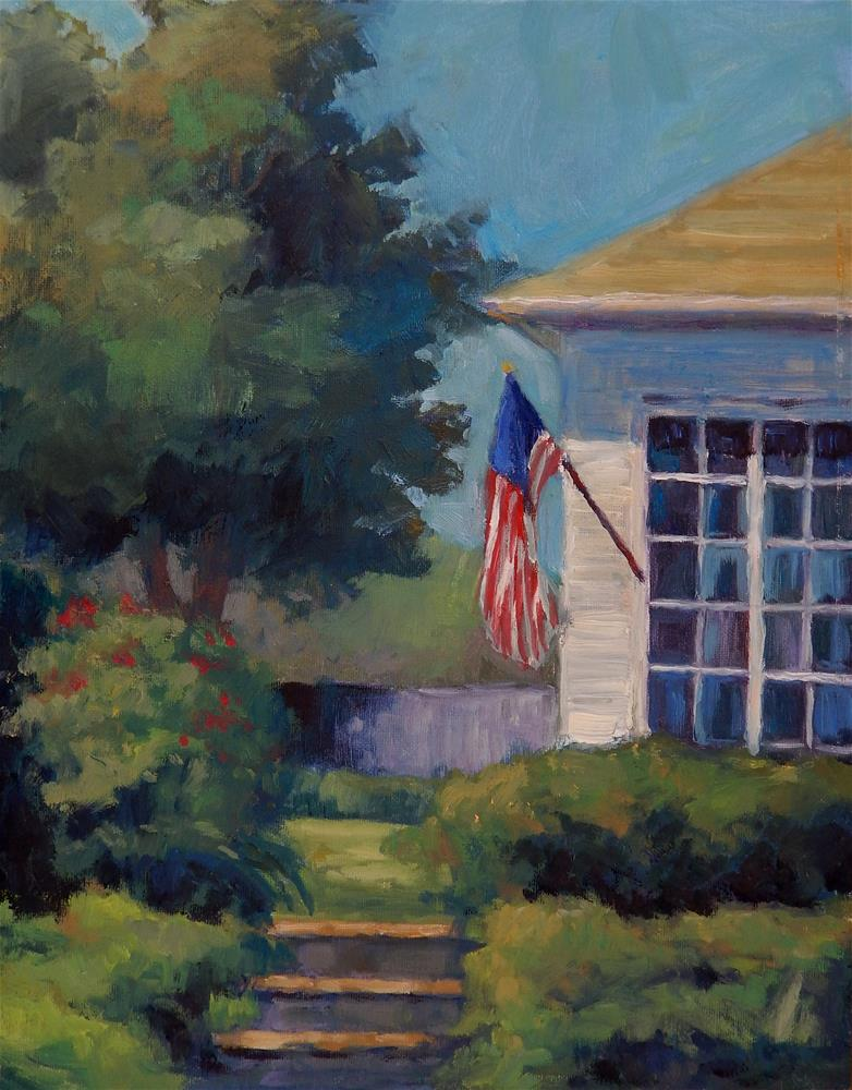 """Waving Flag"" original fine art by Lisa Kyle"