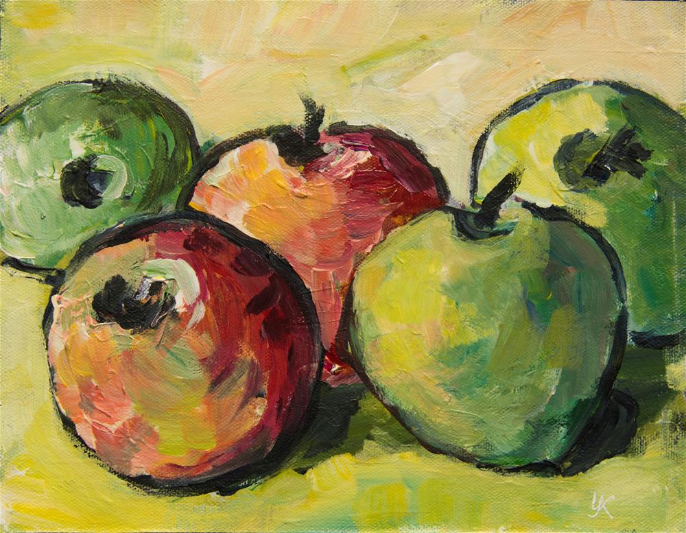 """Red and Green Apples"" original fine art by Yulia Kazansky"