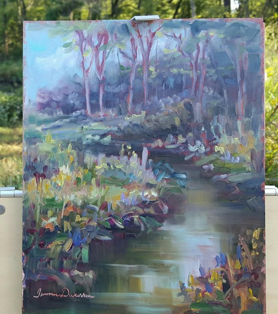 """""""Creekside on Cleveland Trail"""" original fine art by Tammie Dickerson"""