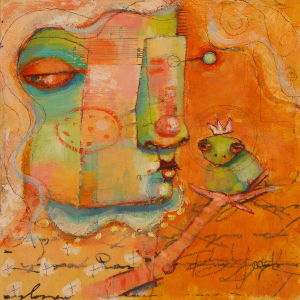 """""""Another Toad. Another Kiss."""" original fine art by Brenda York"""