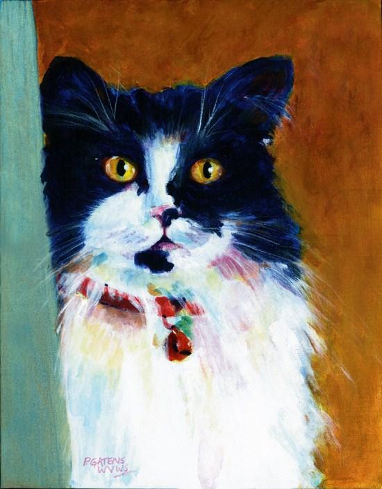 """Tuxedo in My Closet"" original fine art by Pamela Gatens"