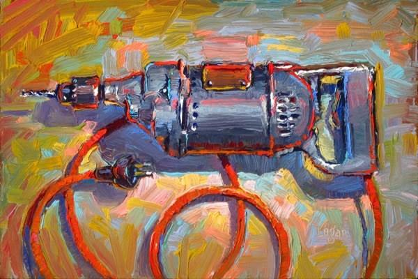 """Cincinnati Drill"" original fine art by Raymond Logan"