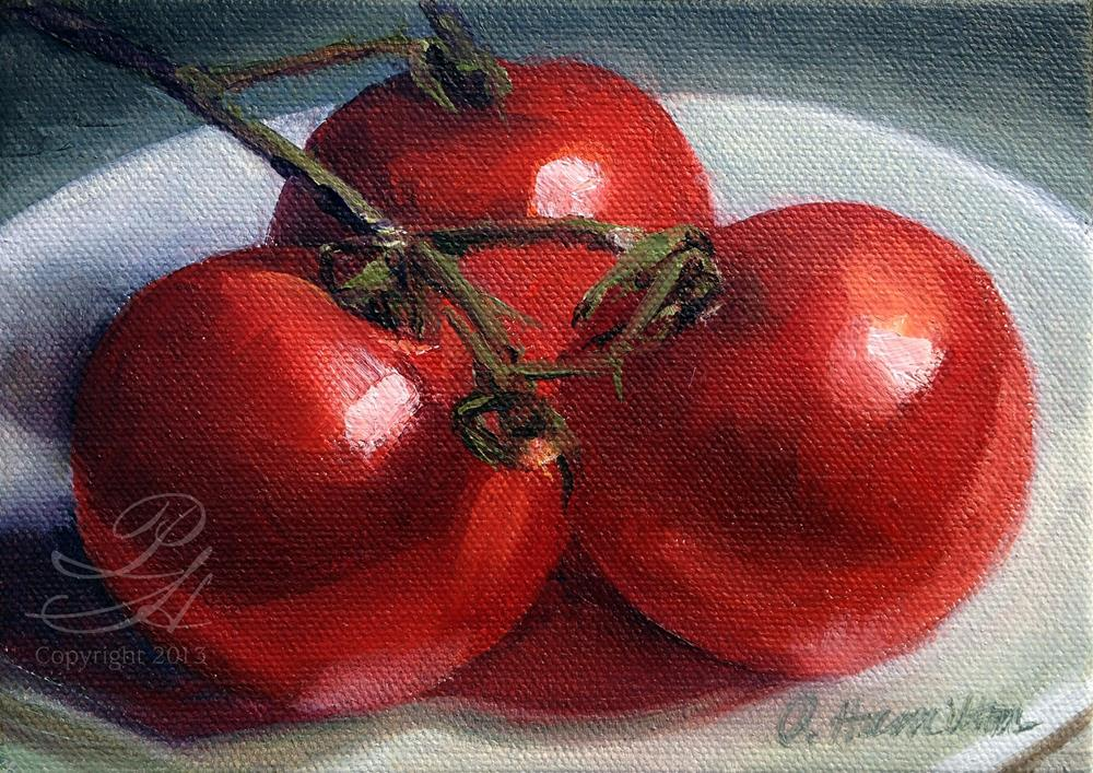 """Tomatoes"" original fine art by Pamela Hamilton"