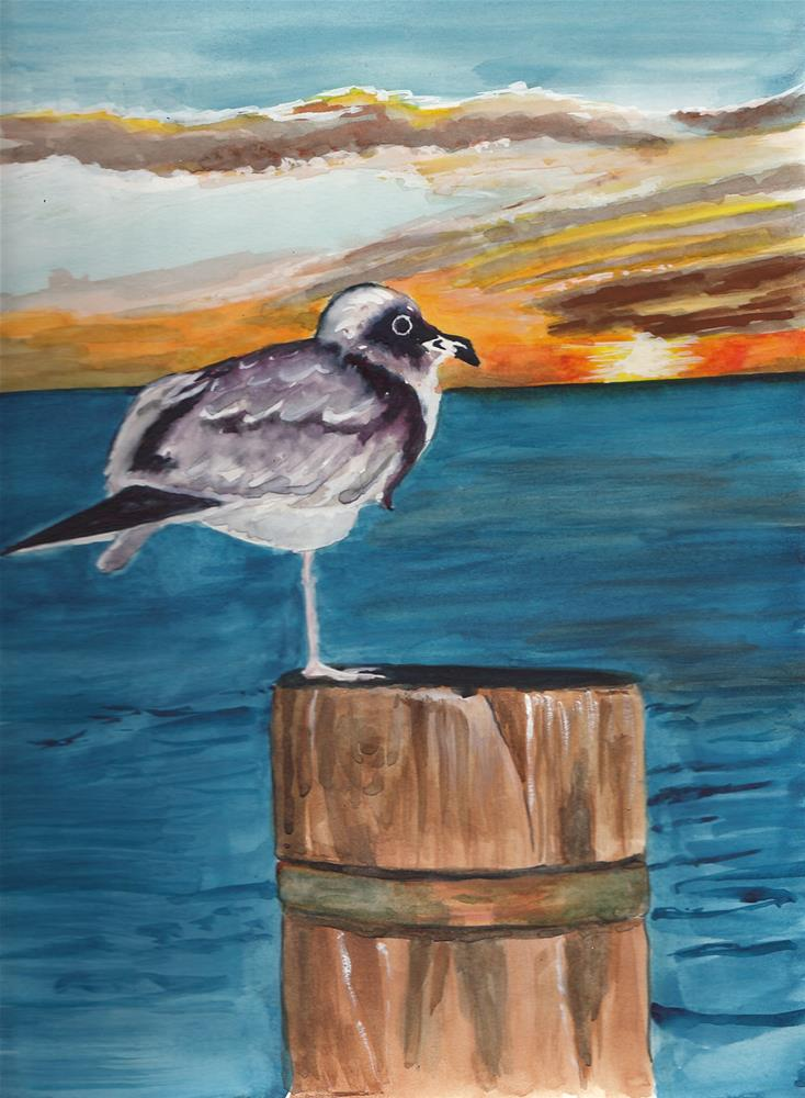 """Watching the Sundown"" original fine art by Bunny Griffeth"