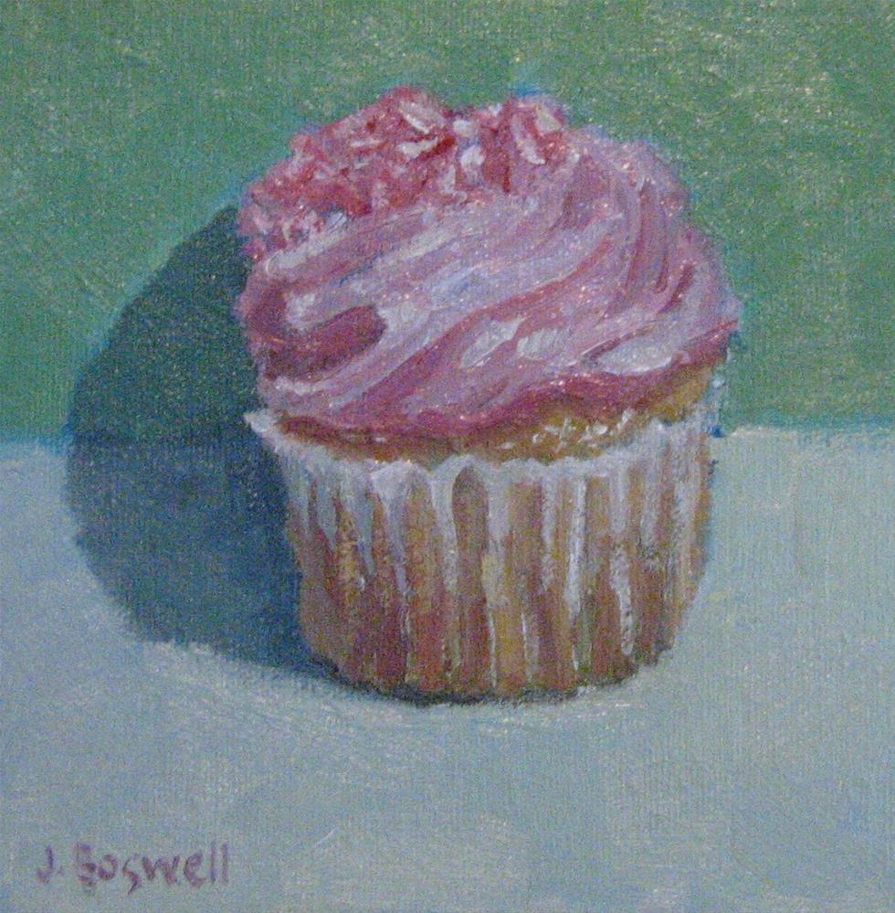 """""""Strawberry Cupcake"""" original fine art by Jennifer Boswell"""