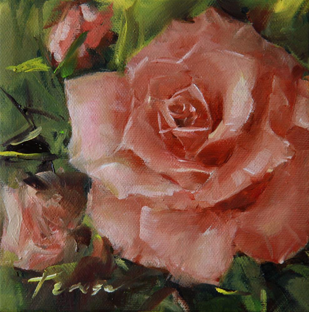"""""""Rose"""" original fine art by Teresa Yoo"""