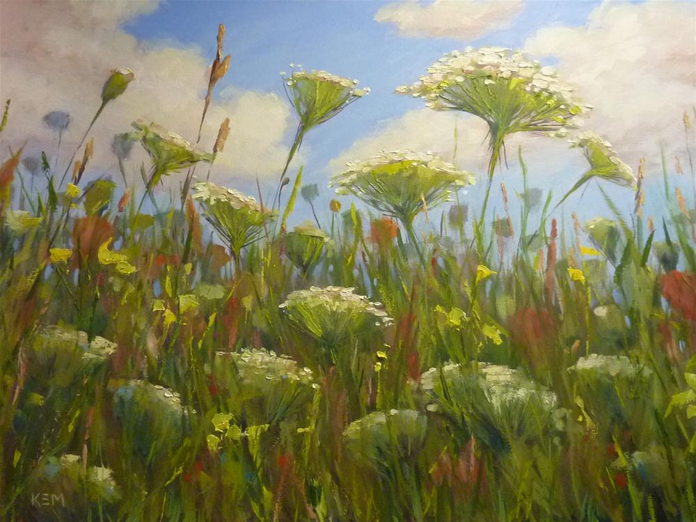 """Queen Anne's Lace Oil Painting Demo Pictures"" original fine art by Karen Margulis"