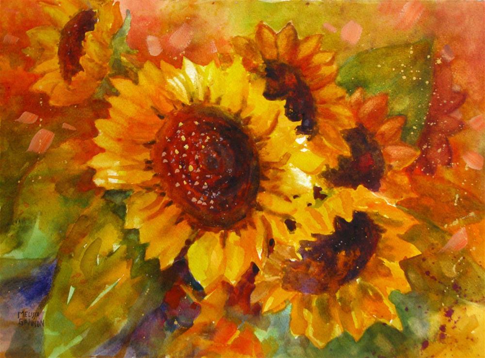 """Musical Sunflowers"" original fine art by Melissa Gannon"