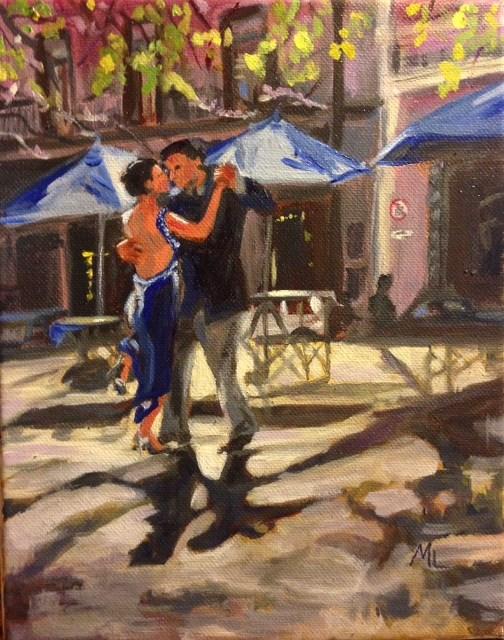 """""""Afternoon Tango"""" original fine art by Marjie Laizure"""