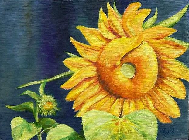 """Sunflowers"" original fine art by Maria Levandowski"