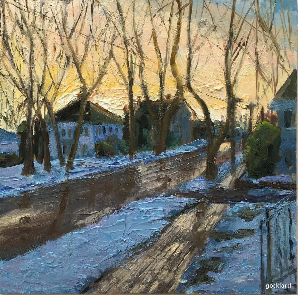 """Reflecting on my Neighborhood"" original fine art by Shari Goddard Shambaugh"