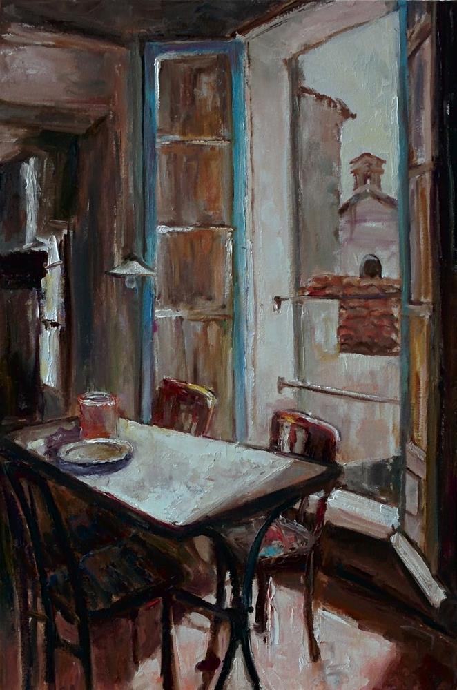 """Room in Paris"" original fine art by pepa sand"