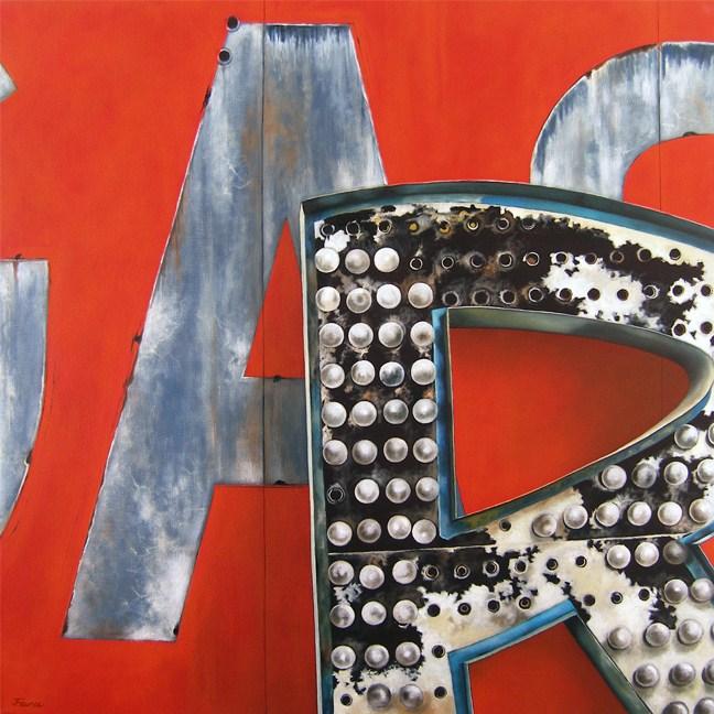 """Ar - Vintage Neon Sign"" original fine art by Jelaine Faunce"