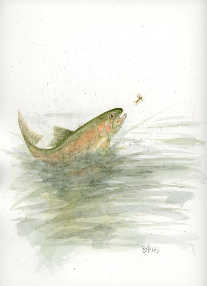 """""""Trout Study XII"""" original fine art by Susanne Billings"""