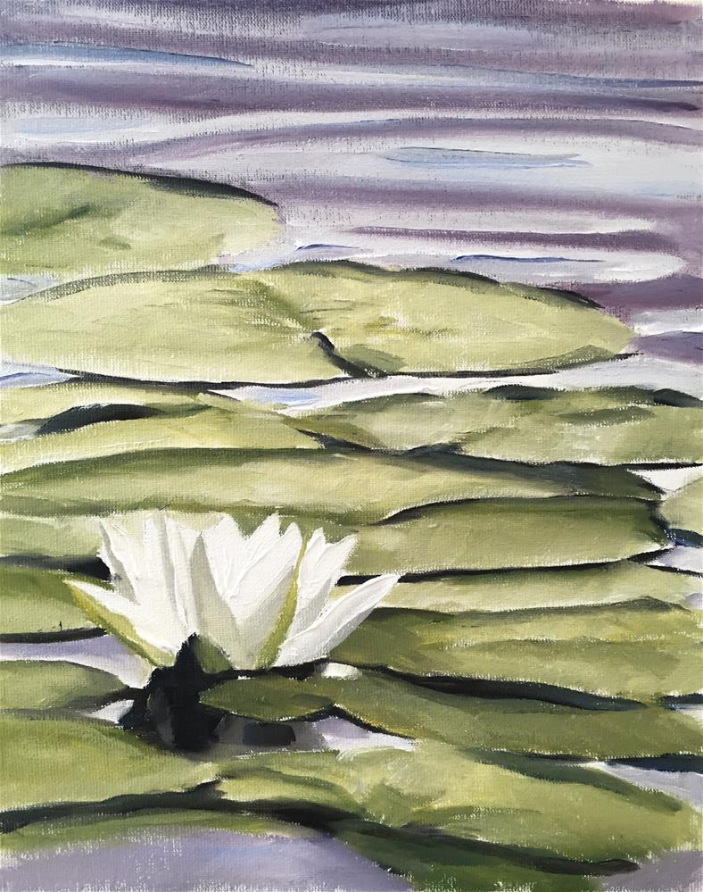 """""""Water Lilly"""" original fine art by James Coates"""