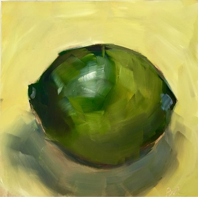 """Lime Study"" original fine art by Piya Samant"