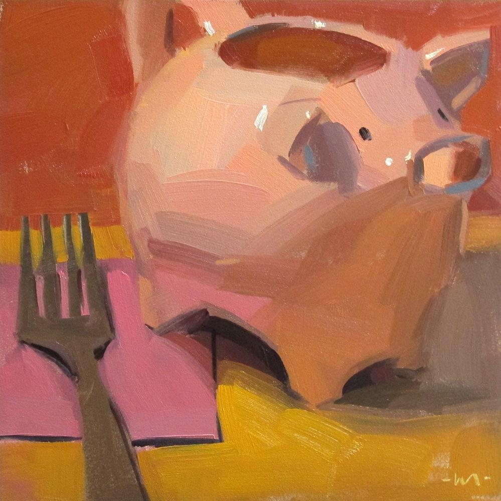 """Talk to the Fork"" original fine art by Carol Marine"