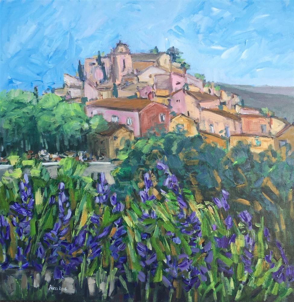 """Roussillon View"" original fine art by Alina Vidulescu"