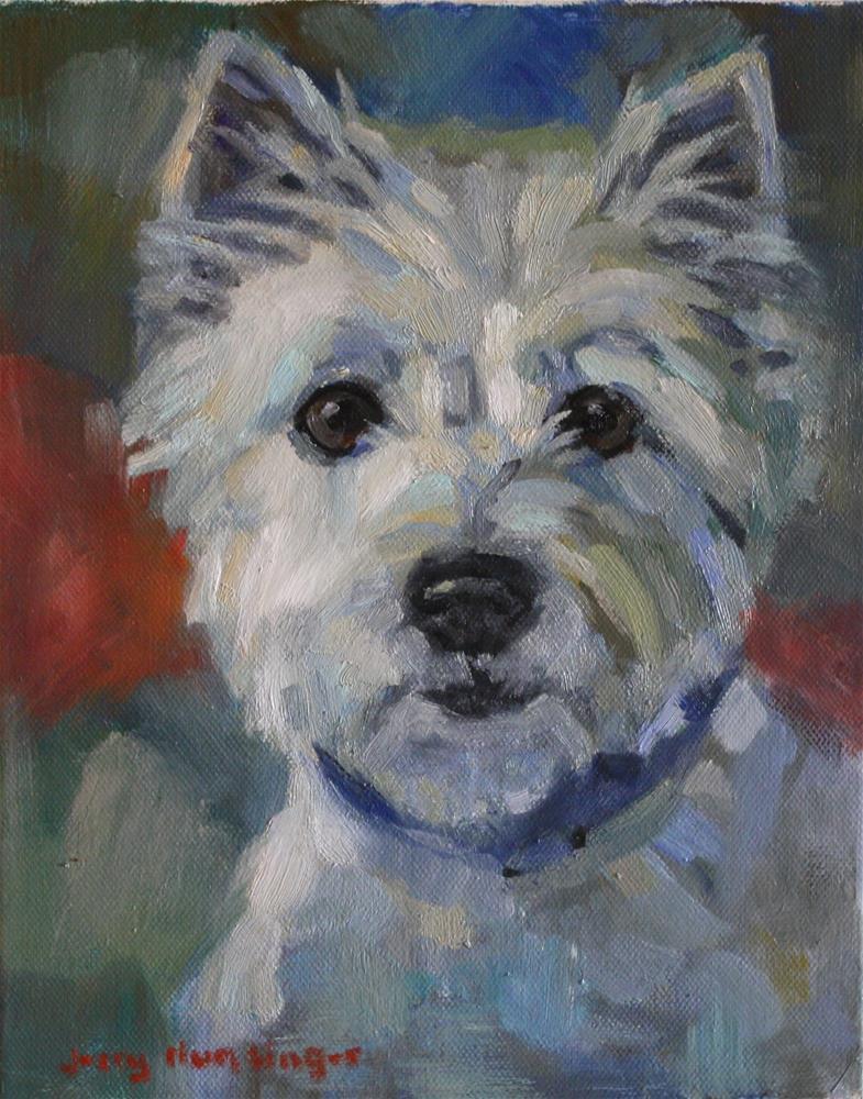 """""""West Highland Terrier"""" original fine art by jerry hunsinger"""