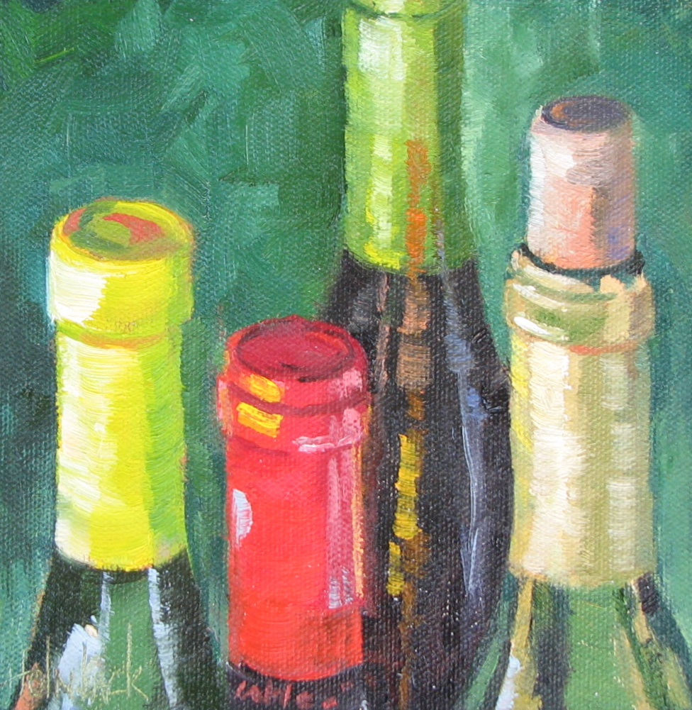 """Mighty Fine Wine"" original fine art by Pam Holnback"