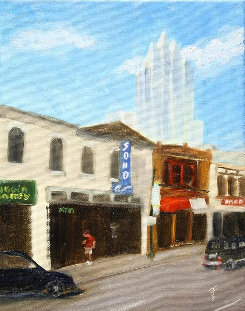 """6th Street Stroll"" original fine art by Jane Frederick"