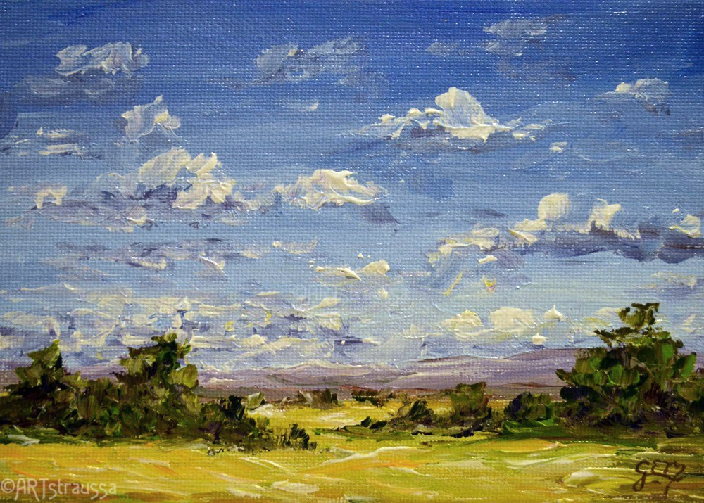 """Summer At Morrison Field"" original fine art by Gloria Ester"