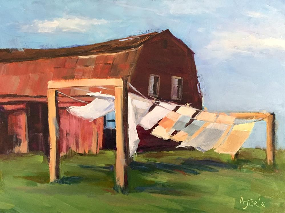 """Inhale Fresh Laundry"" original fine art by Andrea Jeris"