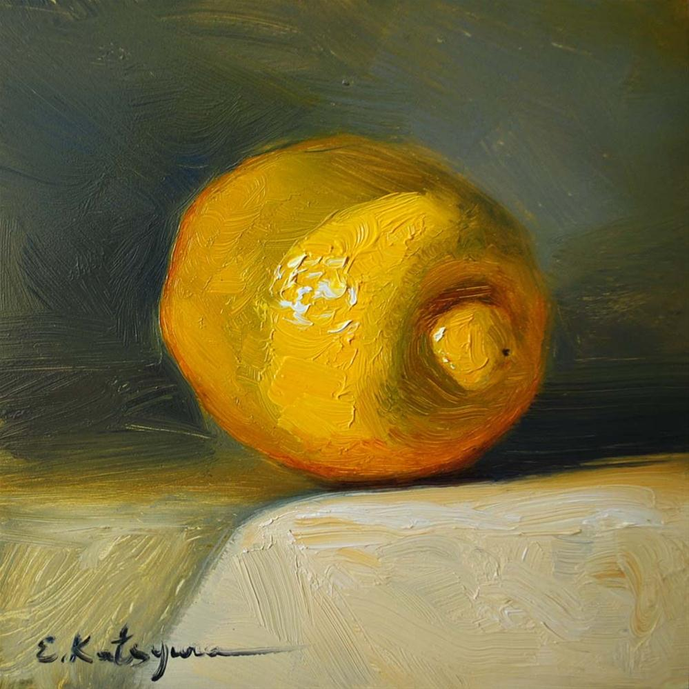 """Lemon"" original fine art by Elena Katsyura"