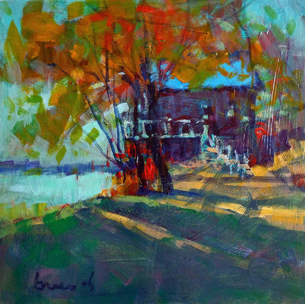 """""""house on the water"""" original fine art by salvatore greco"""