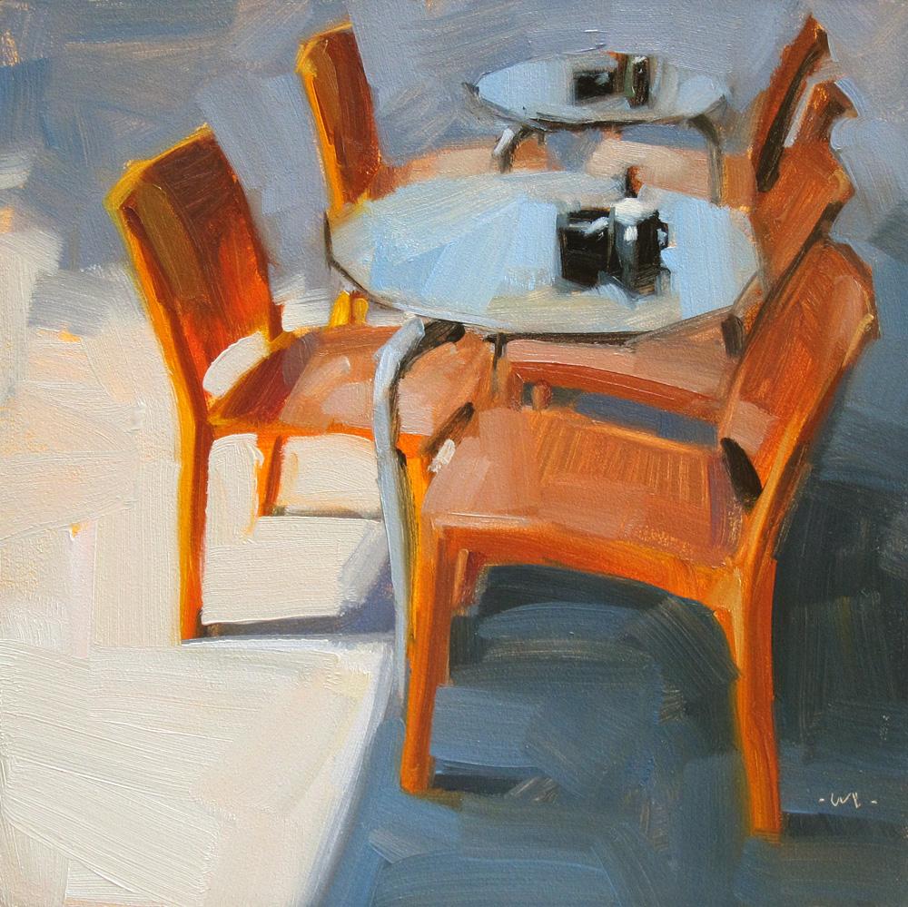"""Euro Orange"" original fine art by Carol Marine"