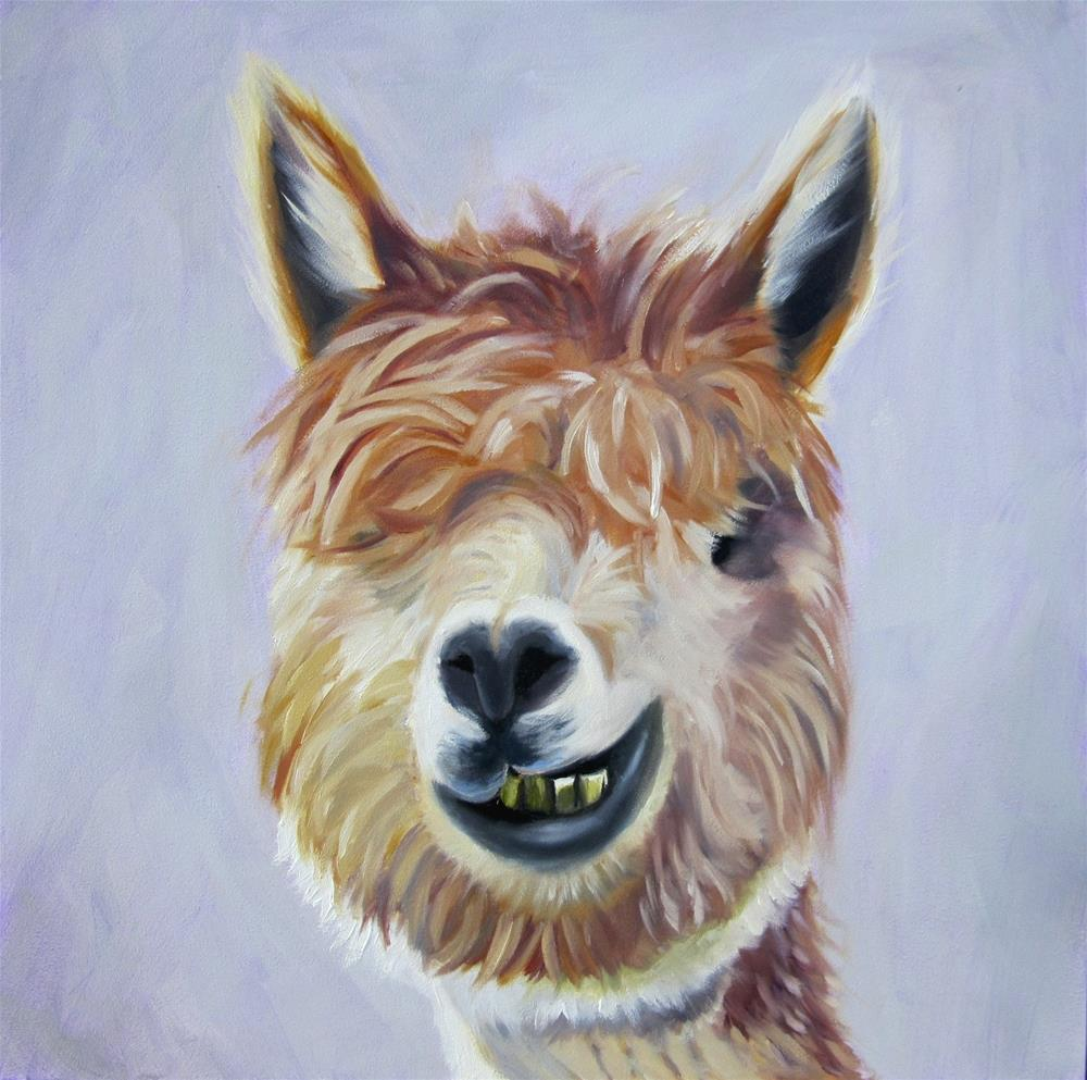 """I'm No Llama"" original fine art by Amy Hillenbrand"