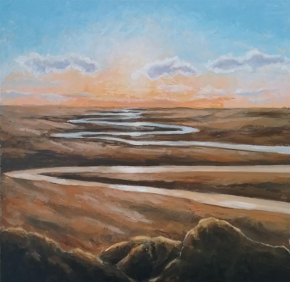 """""""Midas sunset"""" original fine art by Staar Caswell"""
