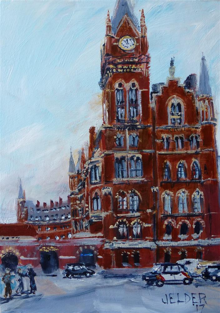 """St. Pancras International Station"" original fine art by Judith Elder"