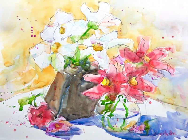 """""""the wild bunch"""" original fine art by Nora MacPhail"""