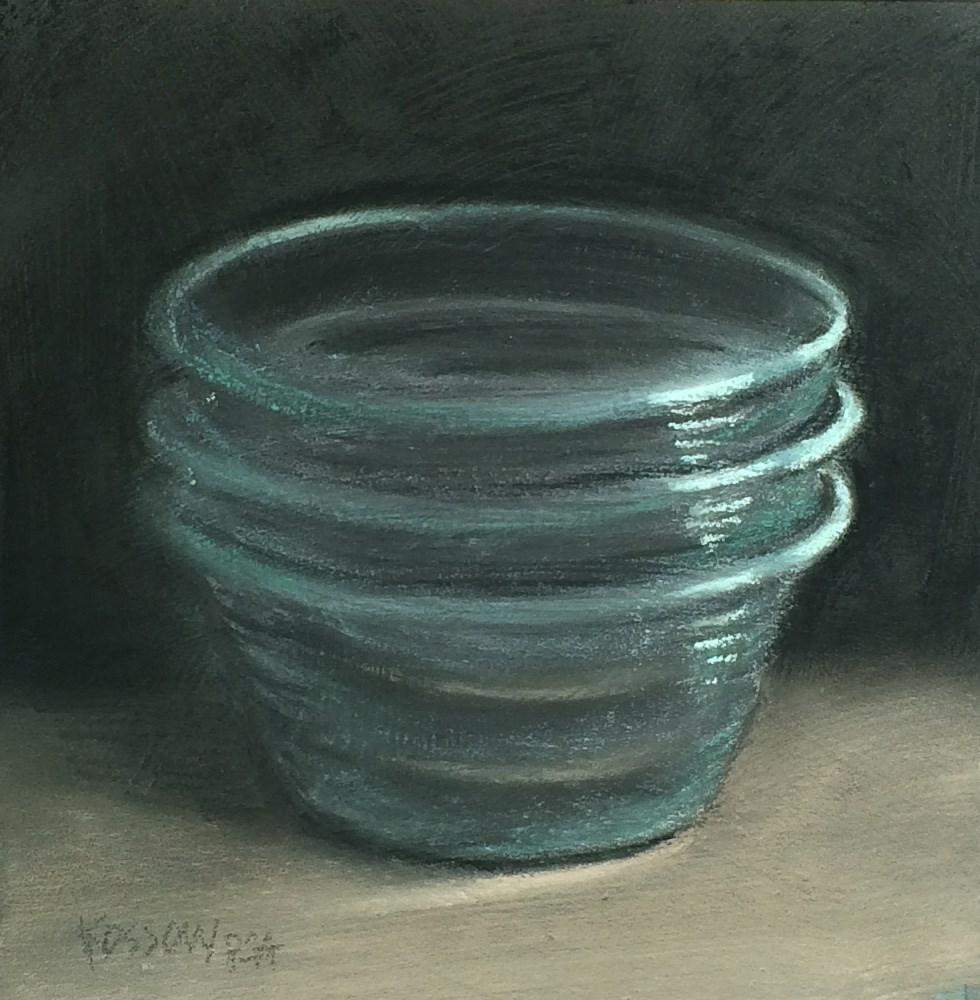 """Pyrex"" original fine art by Cristine Kossow"