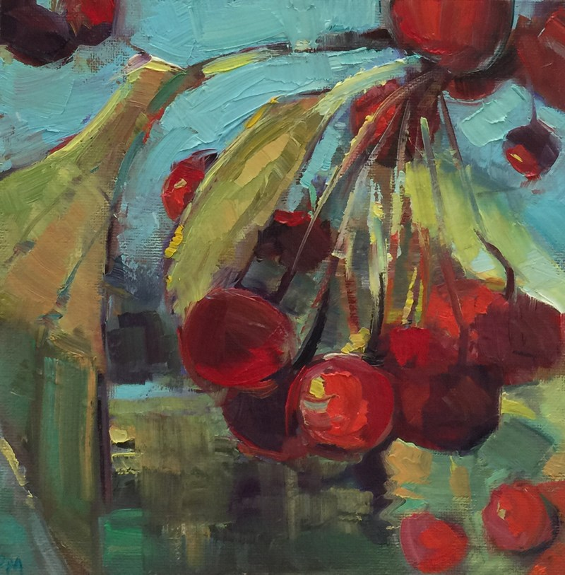 """Fall Fruit"" original fine art by Patti McNutt"