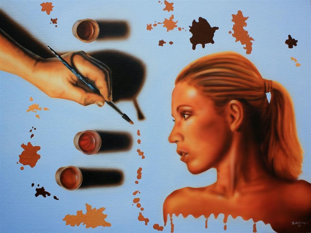 """Unfinished"" original fine art by Fred Schollmeyer"