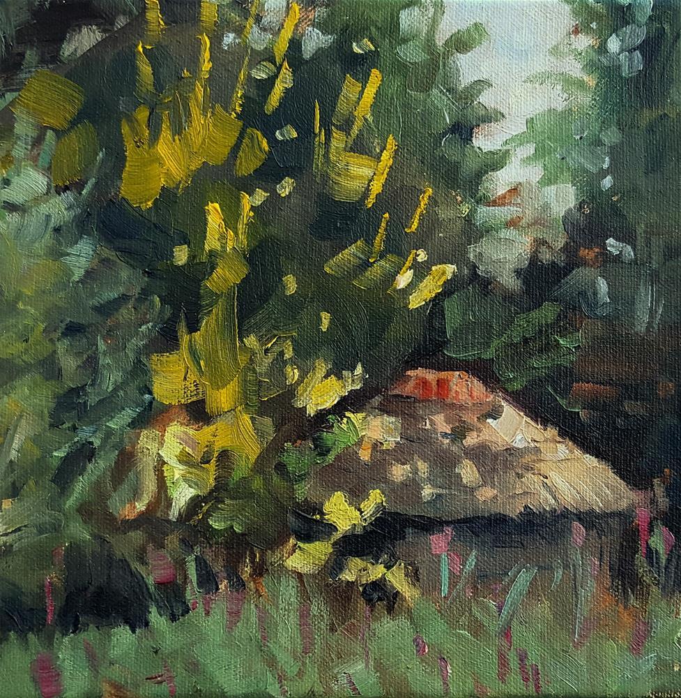 """View from the garden"" original fine art by Miranda Dalessi"