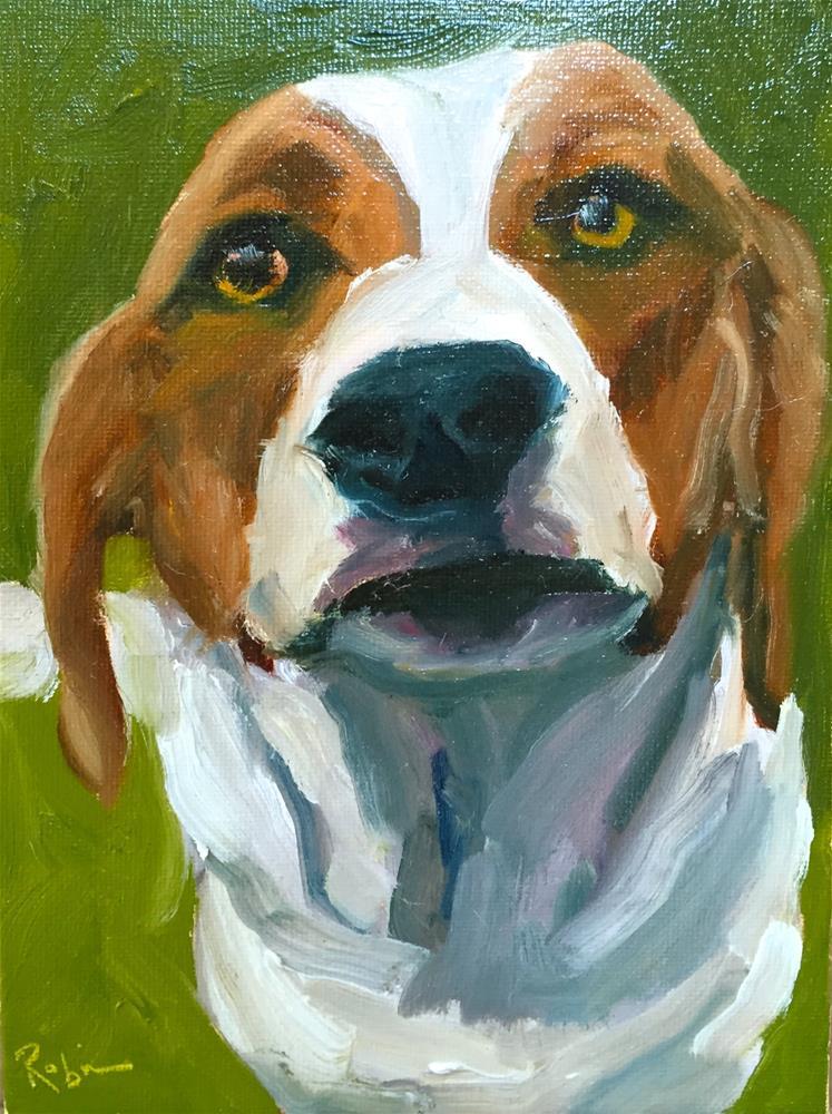 """Dog Selfie #1"" original fine art by Renee Robison"