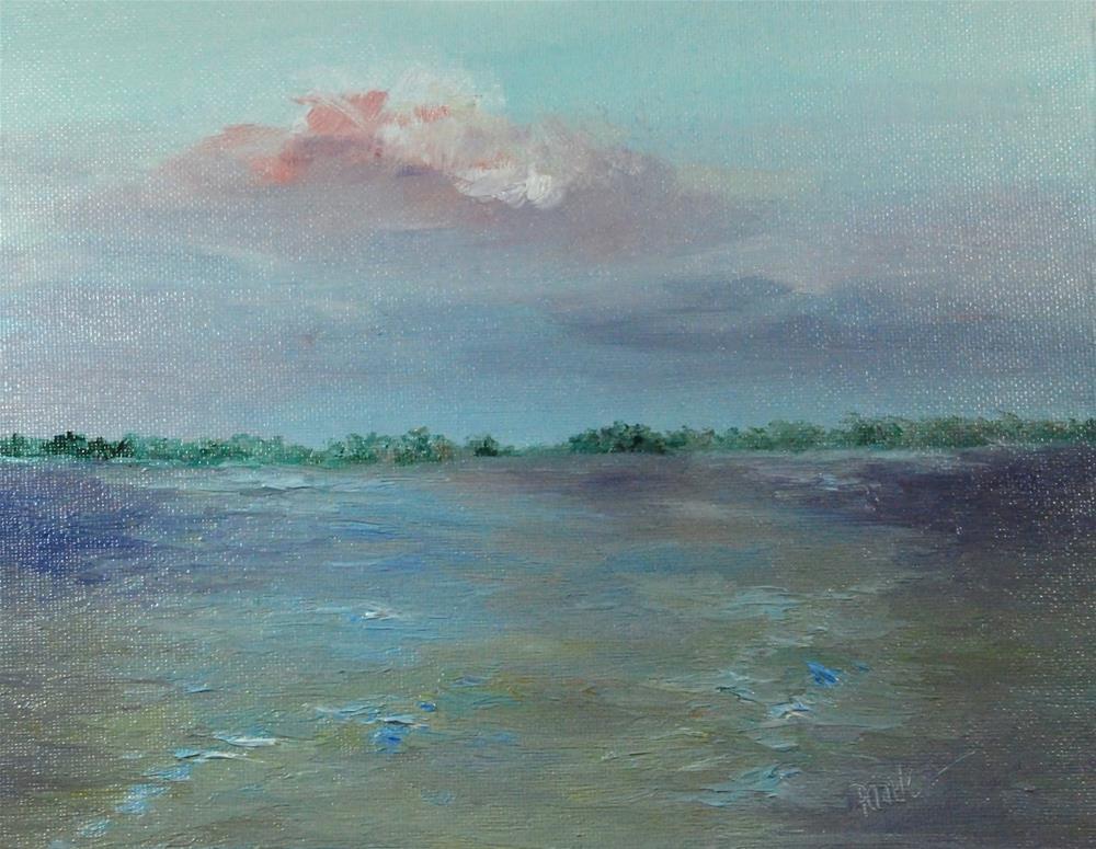 """Dusk on Indian Lake, 8 x 10 inch OIl Landscape"" original fine art by Donna Pierce-Clark"