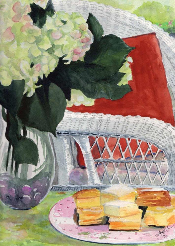 """Porch"" original fine art by Bunny Griffeth"