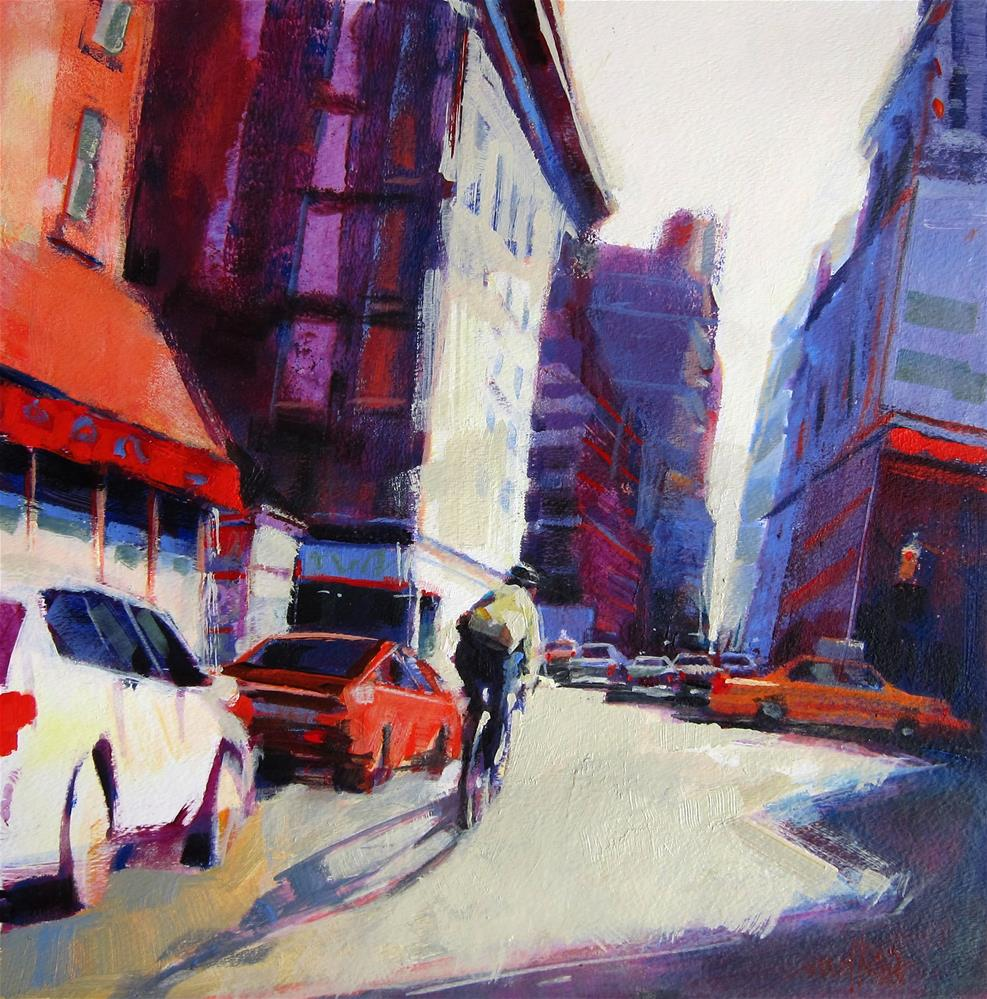"""Zig Zag thru Midtown II"" original fine art by Patti Mollica"