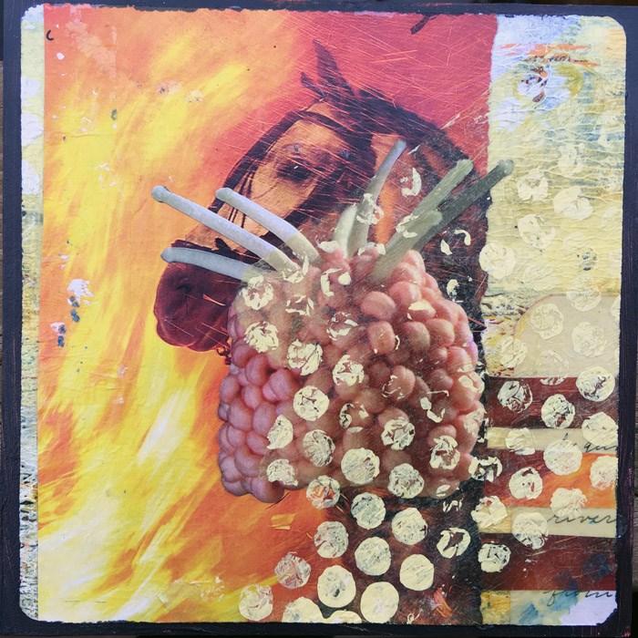 """""""Fire Horse"""" original fine art by Maria McNitt"""