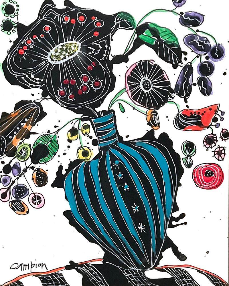 """959 Black Tie Affair"" original fine art by Diane Campion"