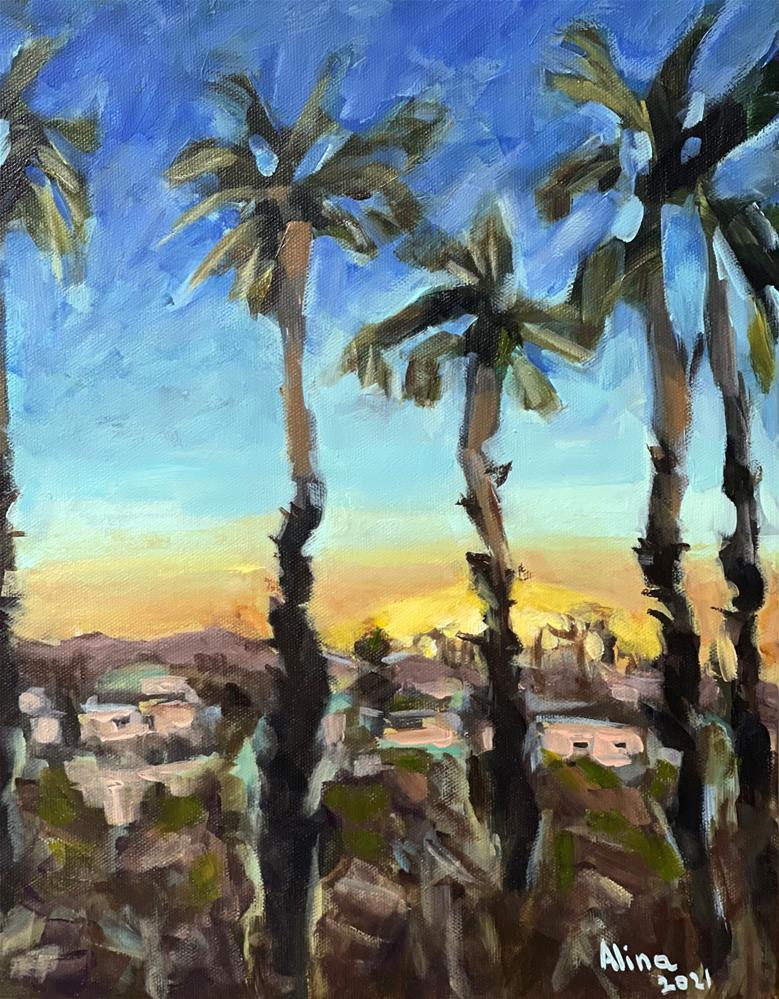 """""""Arizona Sunset"""" original fine art by Alina Vidulescu"""