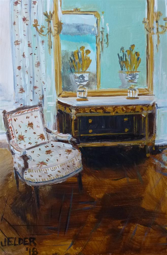 """Chair at Petit Trianon"" original fine art by Judith Elder"